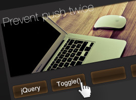 jQuery Toggle(トグル)の2度押し防止!!(点滅を消す方法)