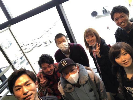 成田空港フライト前全員集合